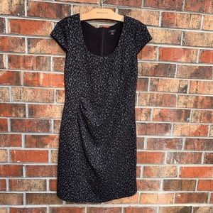 Ann Taylor animal print gray dress